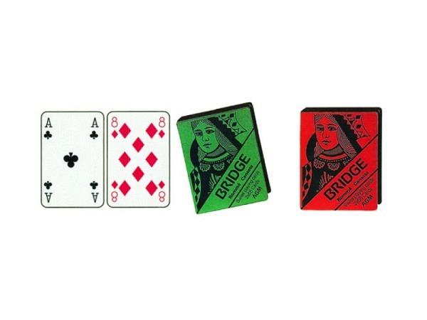 Kartenspiel Bridge Doppel, klassische Figuren, Ornament