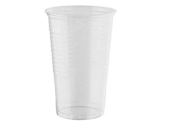 Becher Papstar Kunststoff-Trinkbecher 0,2 l, transparent, 100Stk