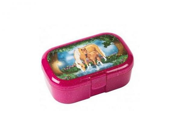 Lunchbox Lux Mauder Mädchen mit Pferd, rosarot