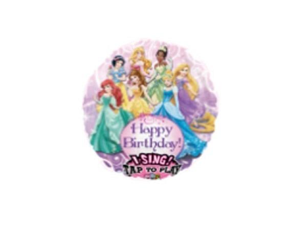 Ballone Folie ungefüllt Musik Happy Birthday Disney Princess
