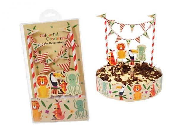 Backset Rex Cake Bunting Colourful Creatures 30cm