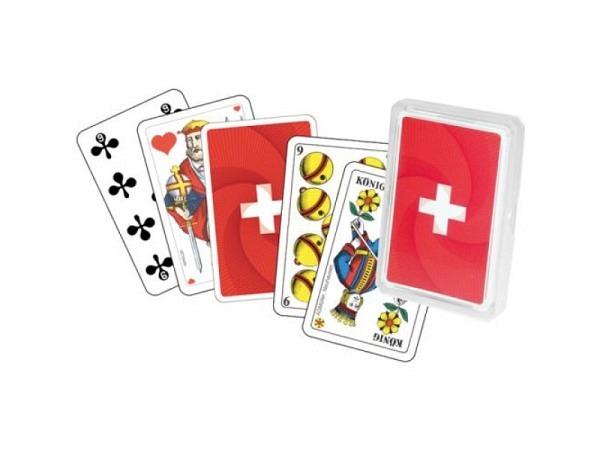 Kartenspiel Jass Deutschschweizer Figuren, Schweizerkreuz