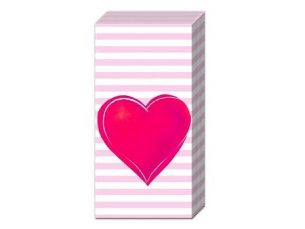 Taschentuch Ihr All you need is Love, 10Stk. 21x21cm