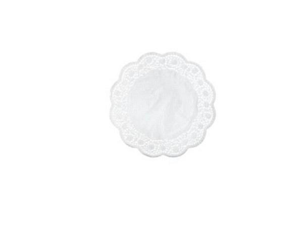 Tortenpapier Demmler weiss rund D: 30cm, 6Stück