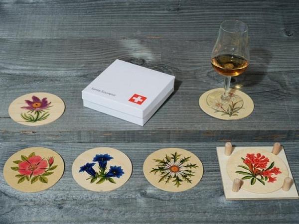 Untersetzer Atelier Fischer Alpenblumen