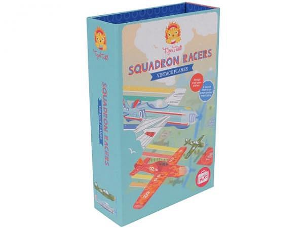 Activity Set Bertoy Tiger Tribe Squadron Racers Vintage Planes