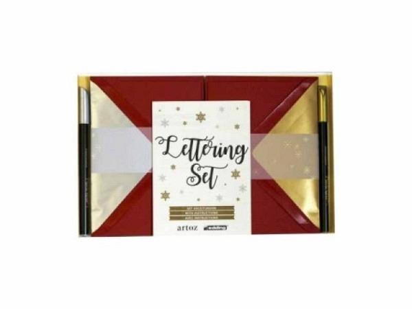 Briefpapier Artoz Lettering Set 1001 rot