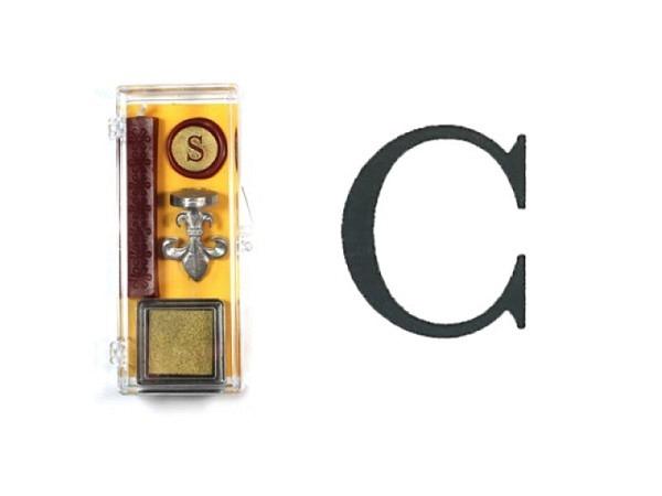 Petschaft Initialen Clear Classy Grossbuchstaben C