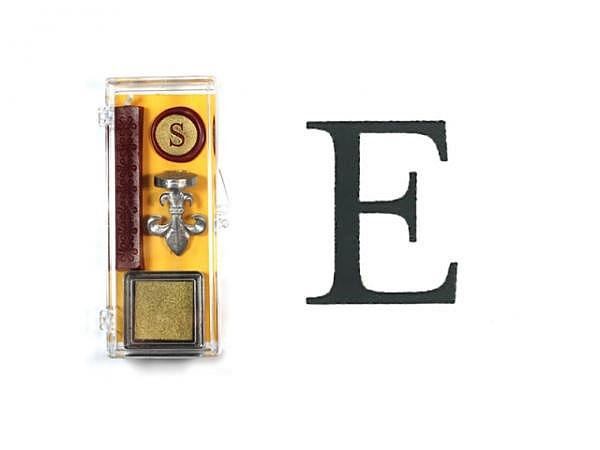 Petschaft Initialen Clear Classy Grossbuchstaben E
