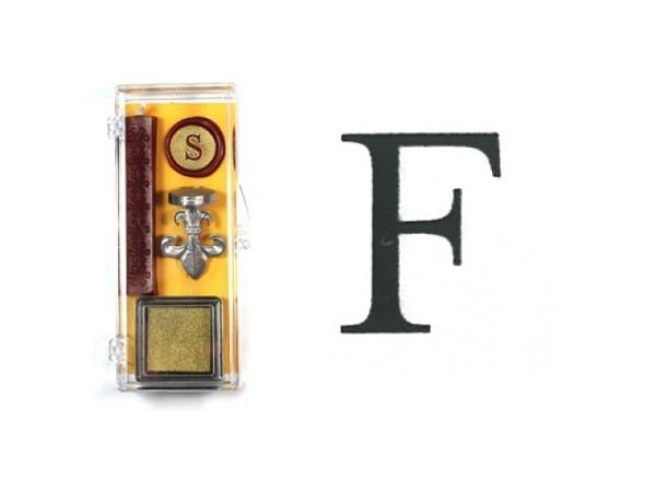 Petschaft Initialen Clear Classy Grossbuchstaben F