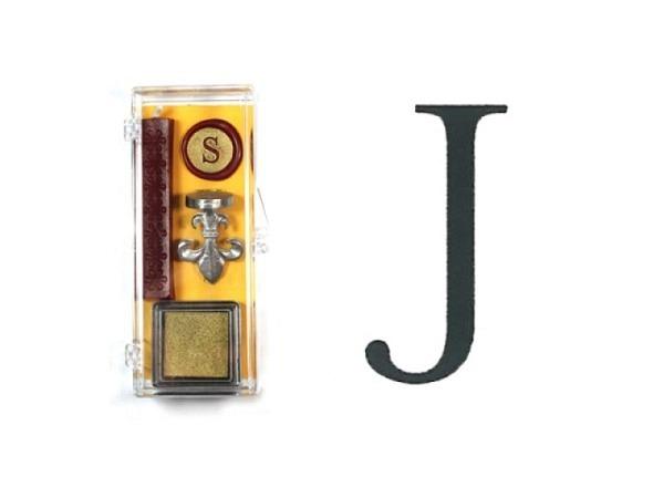Petschaft Initialen Clear Classy Grossbuchstaben J
