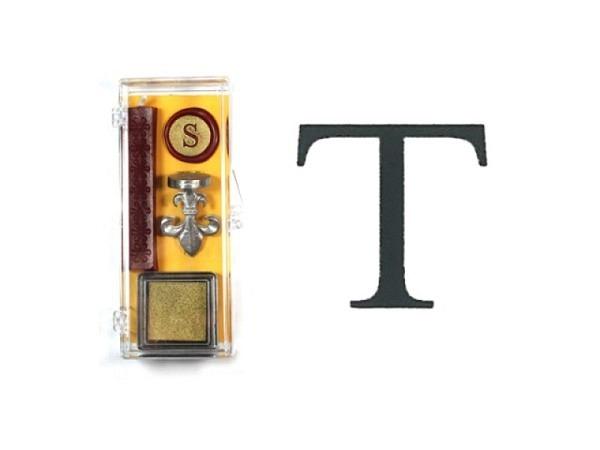 Petschaft Initialen Clear Classy Grossbuchstaben T