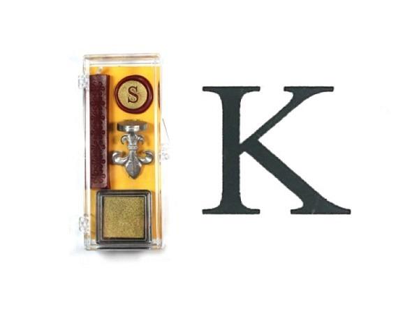 Petschaft Initialen Clear Classy Grossbuchstaben K