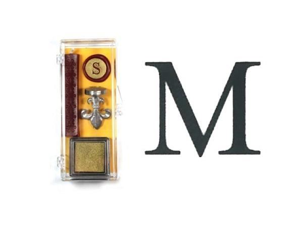 Petschaft Initialen Clear Classy Grossbuchstaben M