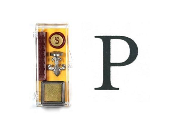 Petschaft Initialen Clear Classy Grossbuchstaben P