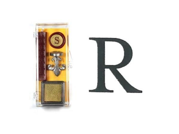 Petschaft Initialen Clear Classy Grossbuchstaben R