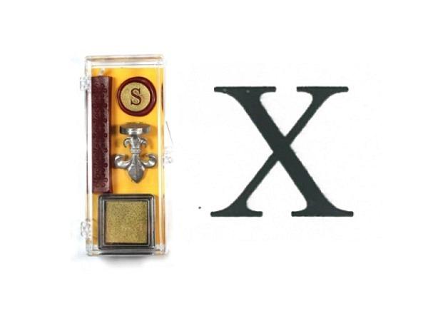 Petschaft Initialen Clear Classy Grossbuchstaben X