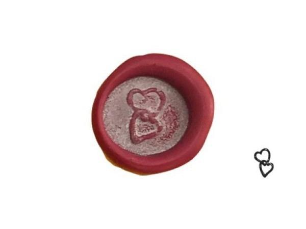 Petschaft Classic Seals 17mm rund zwei verbundene Herzen