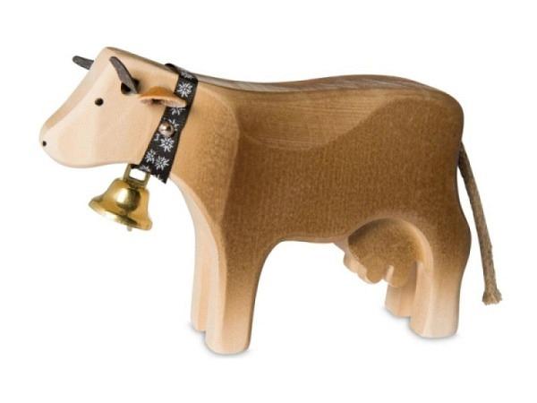 Deko Kuh 1 Braunvieh stehend, 10x6x3cm