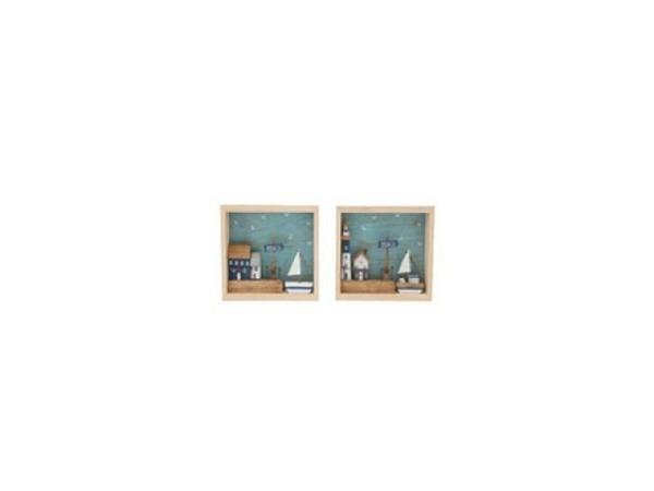 Deko Bild 3D Beach House 1Stk 18x12,5cm
