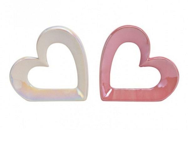 Deko Herz glänzend aus Keramik
