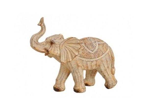 Dekogegenstand Elefant Afrika aus Poly 27x25x12cm