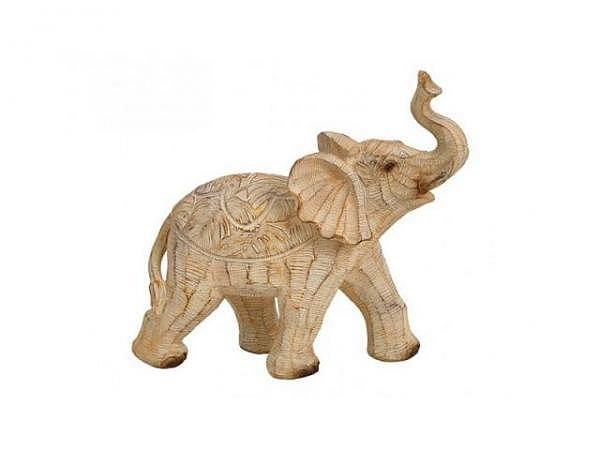 Deko Elefant Afrika aus Poly 19x18x7cm