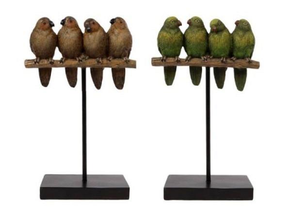 Deko Vögel am Sitzstange, 15,5x7,2x25cm