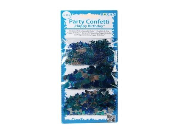 Streudeko Konfetti in den farben blau und silber