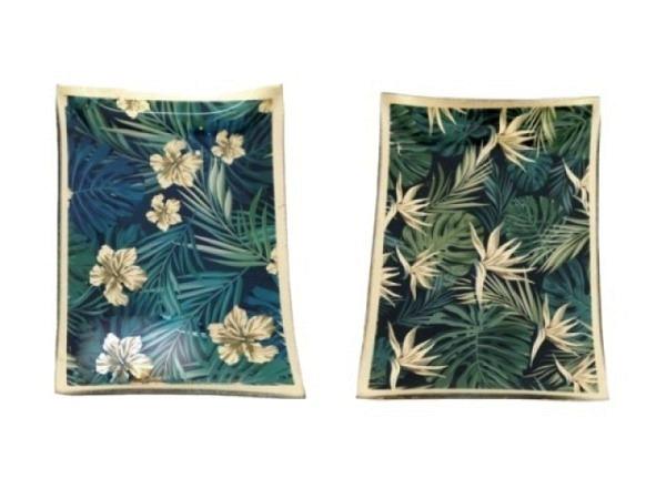 Deko Gold Leaf Scheibe 1Stk 10x14cm aus Glas