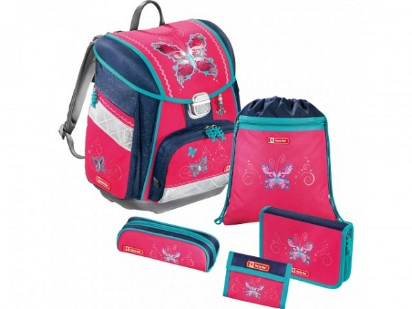 Schulthek Step by Step Touch Butterfly pink 5-tlg. Set