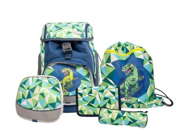 Schulthek Funki Flexy-Bag Dinosaur 5-tlg. Set
