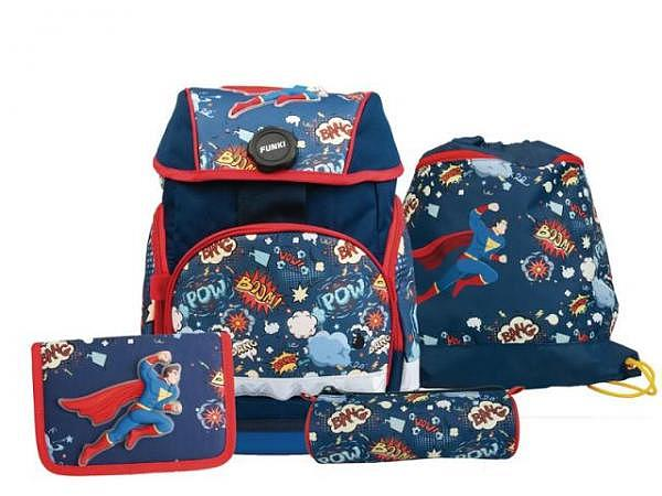 Schulthek Funki Joy-Bag Superhero 4-tlg. Set