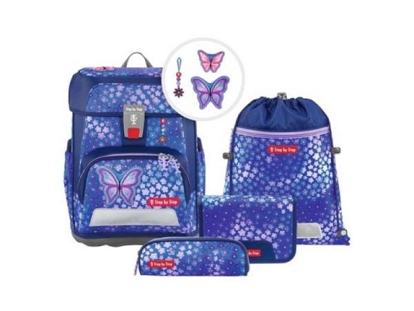 Schulthek Step by Step Touch 2 FLASH Soccer Team 4-tlg. Set, Schulthek mit ergonomisch geformtem Rückenteil und Polsterung