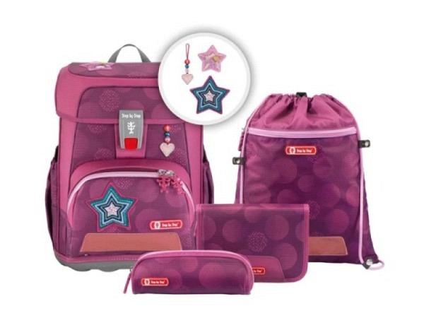 Schulthek Derdiedas Ergoflex Exklusiv Air Speed Set 5tlg. mit Sporttasche, Schüleretui gefüllt, Schlamperbox und Heftbox