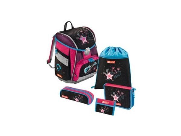 Schulthek Step by Step Touch Popstar braun pink 5-tlg. Set