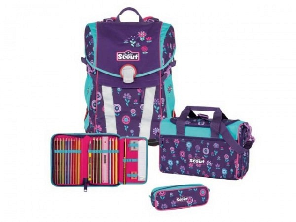 Schulthek Scout Sunny Blueberry Set 4tlg