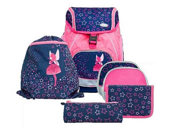 Schulthek Funki Flexy-Bag Neon Edition Pink Fairy 6-tlg. Set