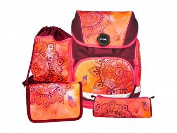 Schulthek Funki Joy-Bag Mandala 4-tlg. Set<br>