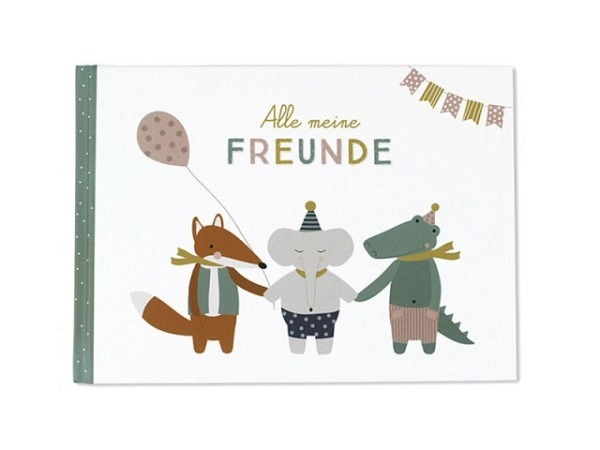 Freundschaftsbuch Ava&Yves, Alle meine Freunde, A5-Format, 96 Seiten