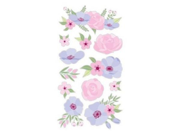 Aufkleber Artemio Happy Spring Puffies Blumenmotiv in pastell