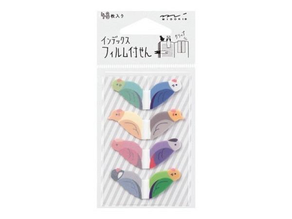 Aufkleber Sticky Notes Animal Bird, 4 verschiedene Papageien