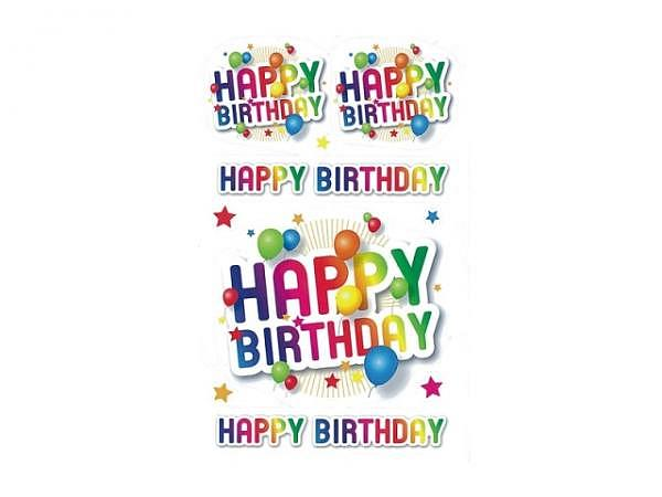 Aufkleber bsb Deco Sticker Happy Birthday, Blisterpackung