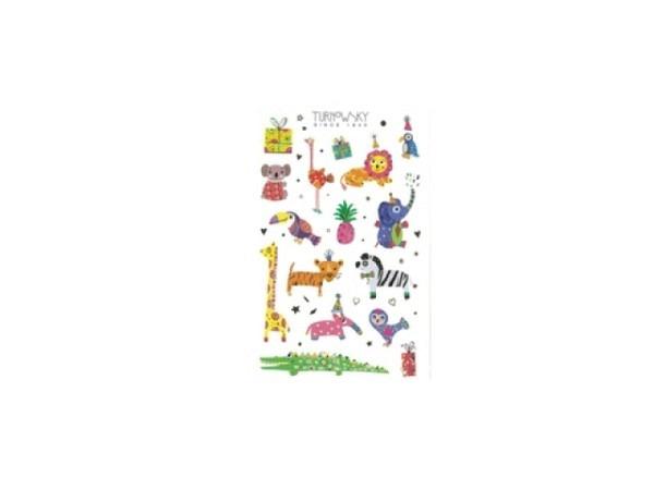 Aufkleber bsb Sticker Turnowsky, feiernde Tiere