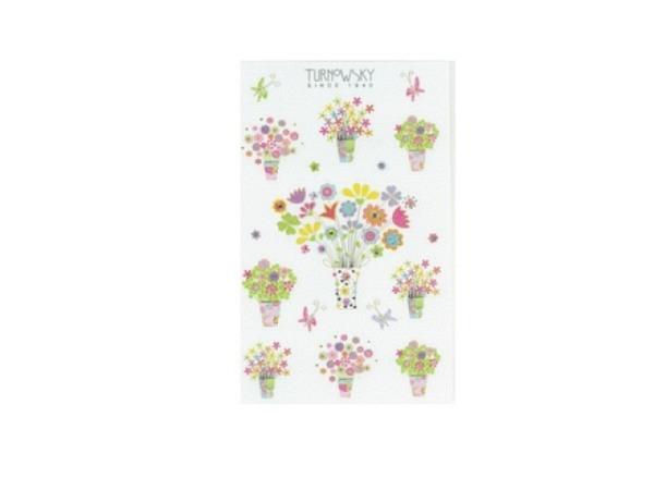Aufkleber bsb Sticker Turnowsky, fröhliche Blumensträusse