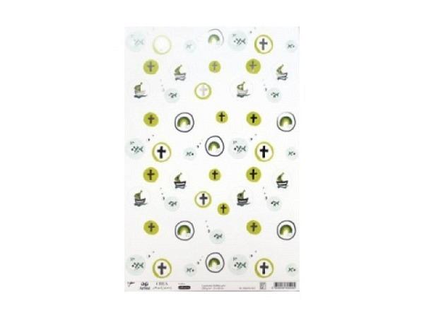 Aufkleber Artoz Creamotion 21x30cm Bubbles grün 230g/qm