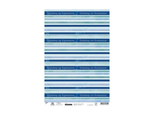 Aufkleber Artoz Creamotion 21x30cm Kommunion blau