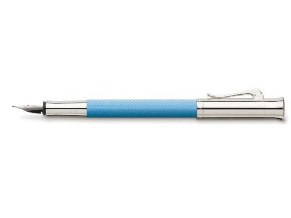 Füllfeder Graf von Faber-Castell Guilloche Gulf Blue, M