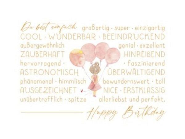 Geburtstagskarte Borer Zahlengeburtstag 20