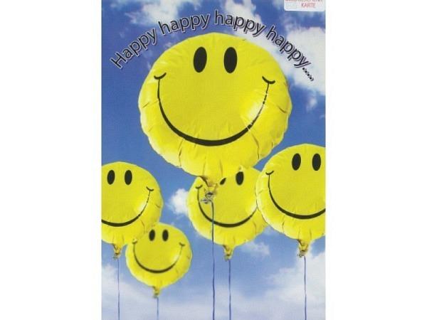 Geburtstagskarte Borer Smiley-Ballon A4 21x29,7cm